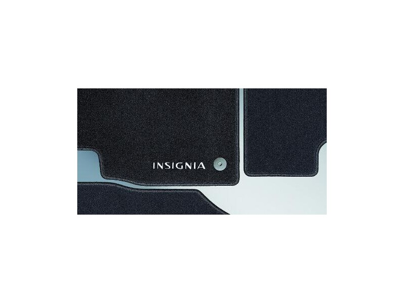 tapis de sol velours noirs avec logo insignia. Black Bedroom Furniture Sets. Home Design Ideas