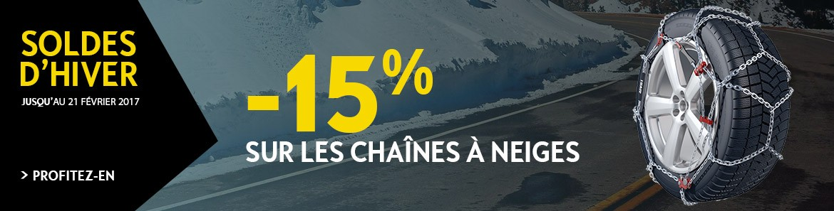 Soldes Opel - Chaines à neige -15%